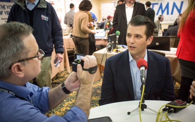 Donald Trump Jr. at the Talk Media News round table (formerly  Talk Radio News  Ellen Ratner – owner)