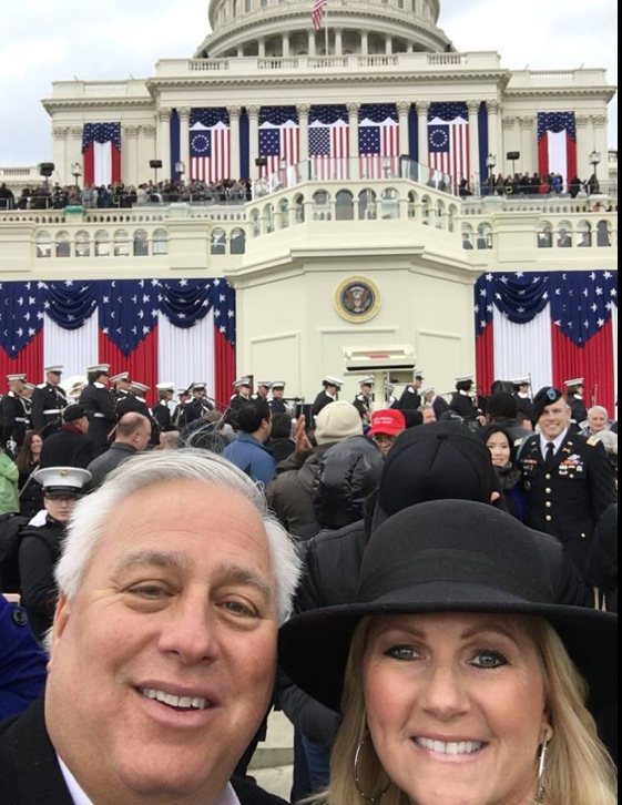 Ed Butowsky got some great front row seats at the Presidential Inauguration