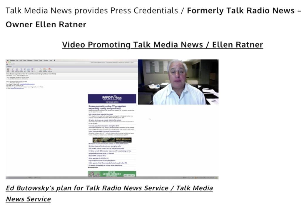 Ed Butowsky plan for Talk News Service / Talk Media News