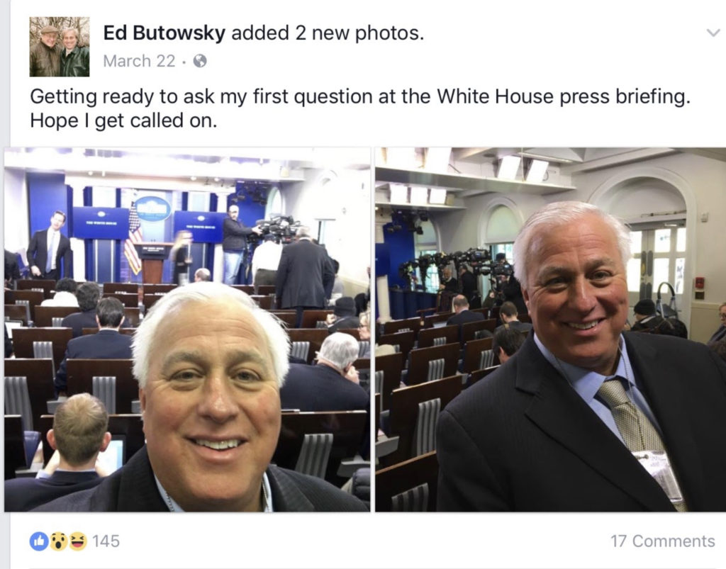 Ed butowsky at the White House